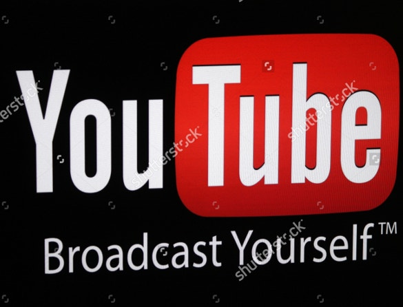 youtube logo with tag line