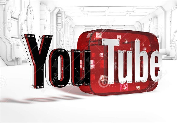 3d youtube logo instant download