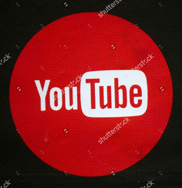 youtube logo design in circle