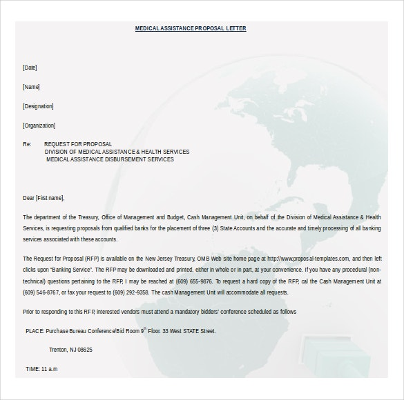 word medical assistance proposal free download template - Free Proposal Template