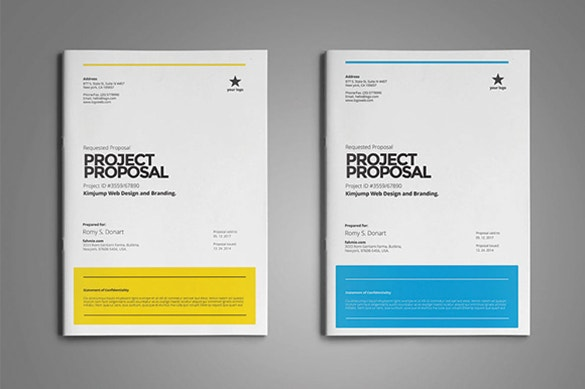 Word Document Proposal Template  Download Business Proposal Template
