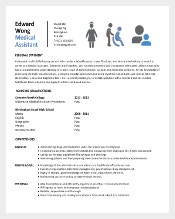 Student Entry Level Medical Assistant Resume Template