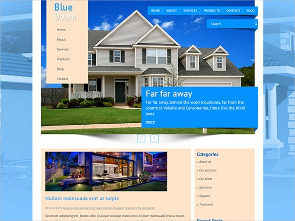 real estate style premium website template