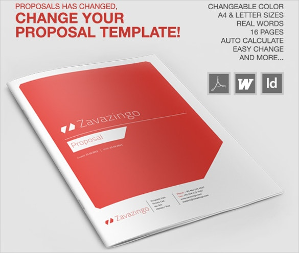 20 Free Proposal Templates Microsoft Word Format Download – Proposal Cover Page Design
