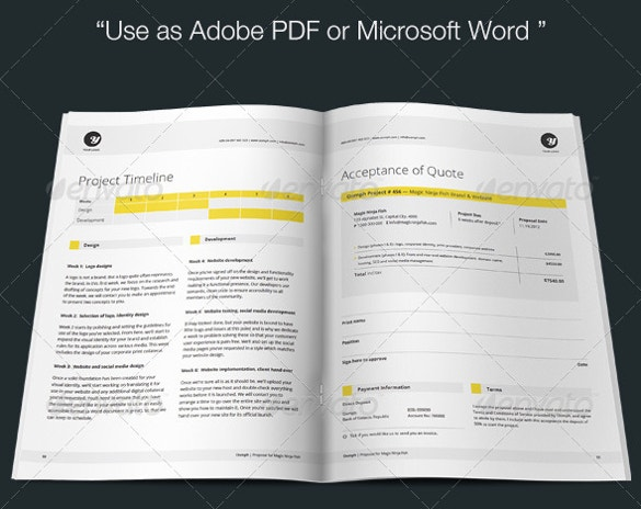 Indesign MS Word Proposal Template Download  Microsoft Office Proposal Templates