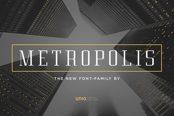 metropolis professional font family otf download