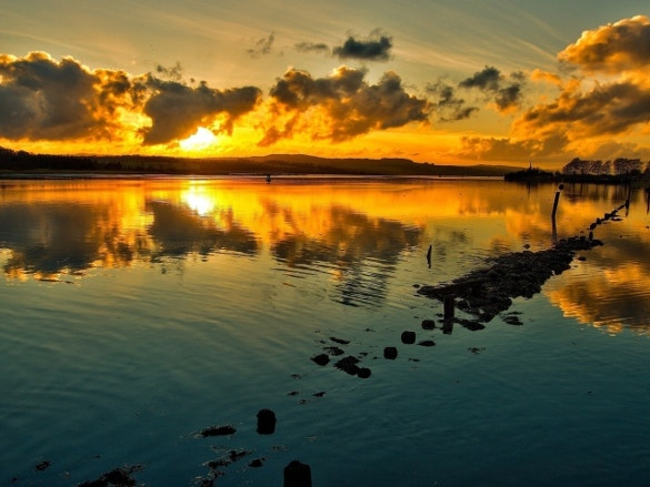 sunset nature wallpaper for download