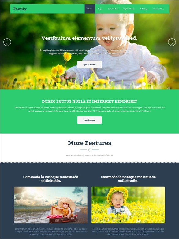 family portfolio website template