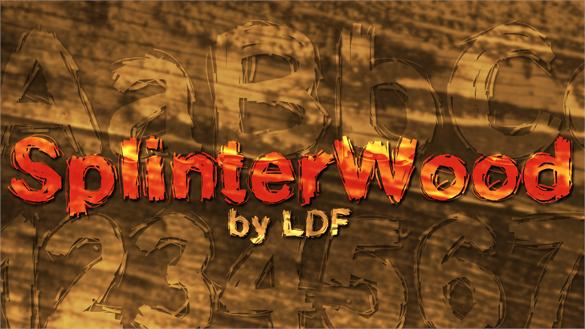 splinterwood font free professional font download