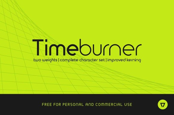 time burner professional font download