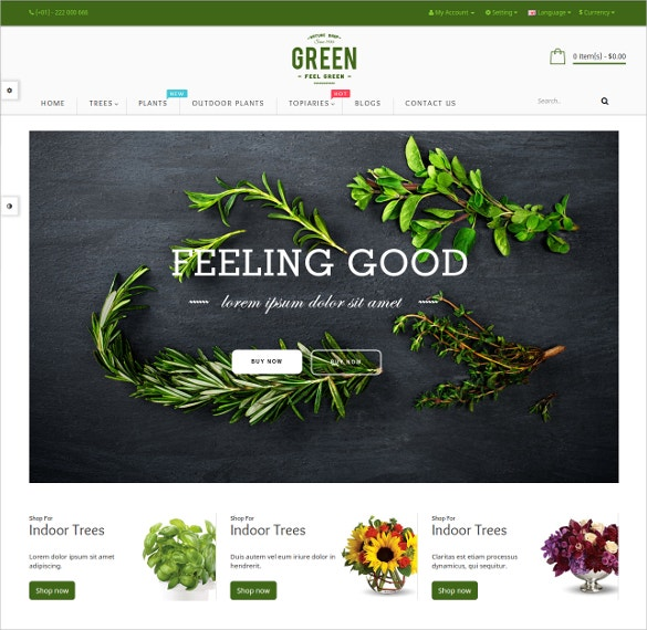 free responsive opencart theme for flower