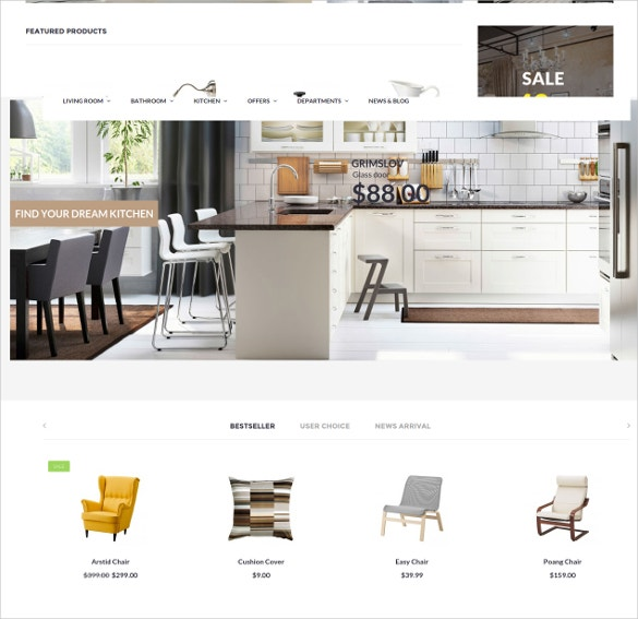 furniture opencart theme to download
