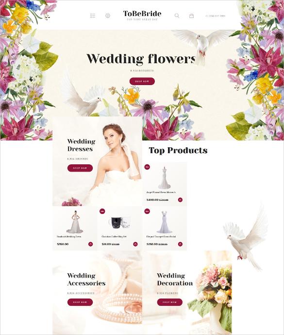 wedding flowers opencart template 62
