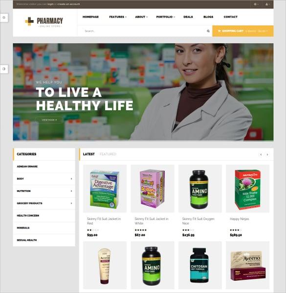 responsive opencart theme for pharmacy 45