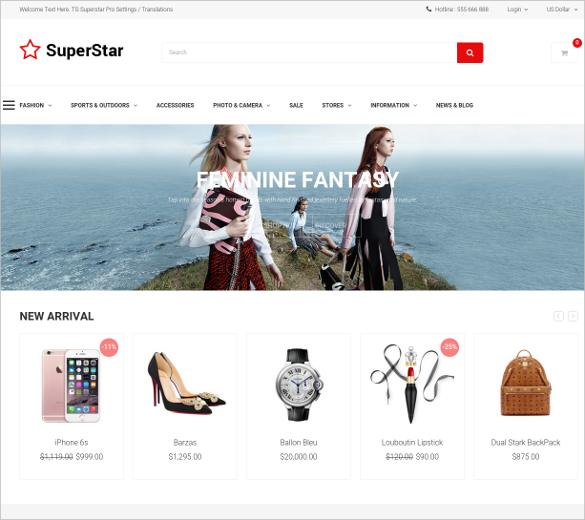 online ecommerce opencart theme