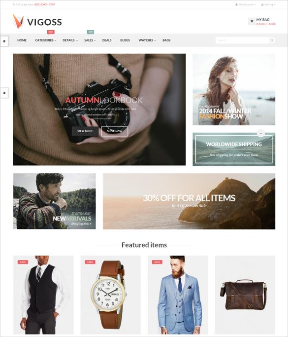 free responsive opencart theme for fashion