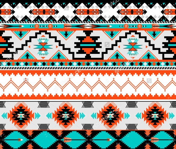 seamless colorful aztec tribal pattern download
