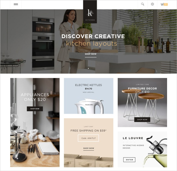 free responsive opencart theme for kitchen store