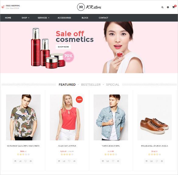 free responsive fashion opencart theme
