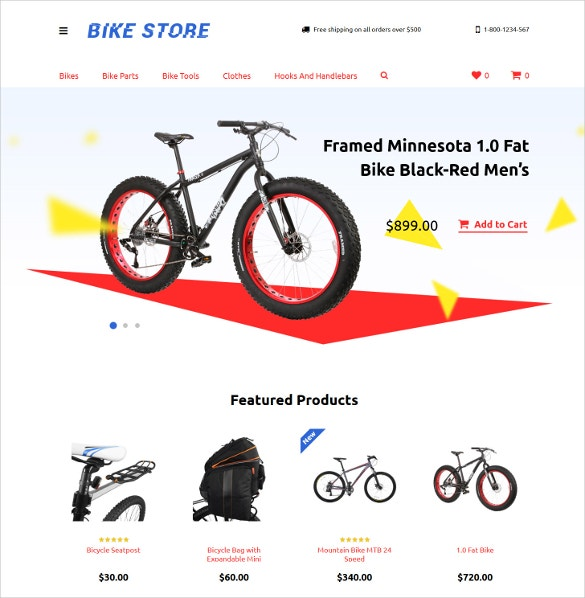 cycling responsive opencart template 62