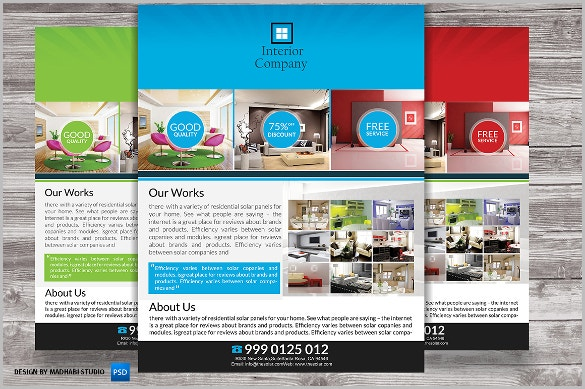 corporate interior design flyer template download