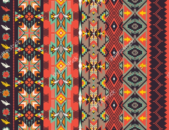 tribal seamless pattern on hot color free download