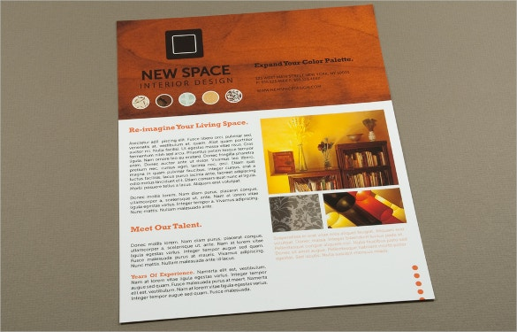 interior design flyer and template for beautiful house