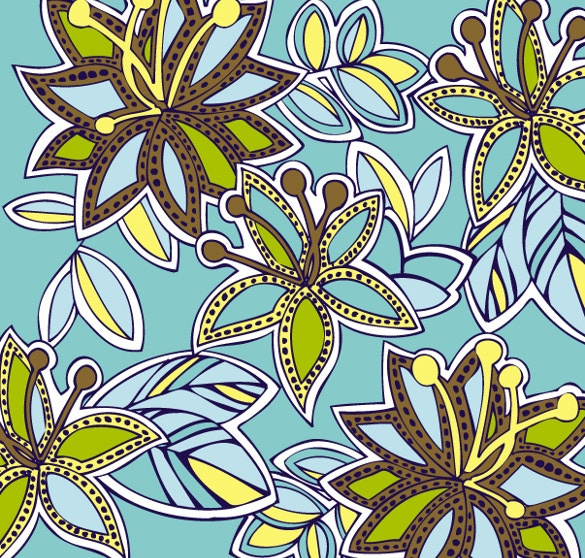 tribal floral pattern free download