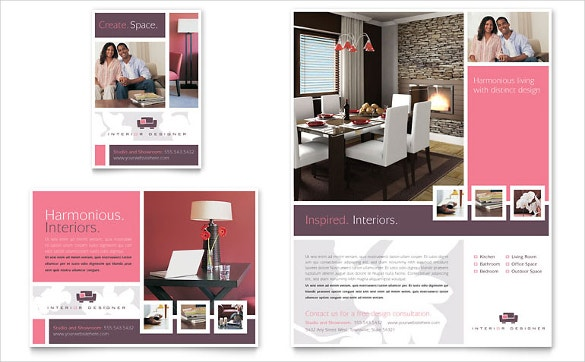 amazing interior designer flyer ad template for small home