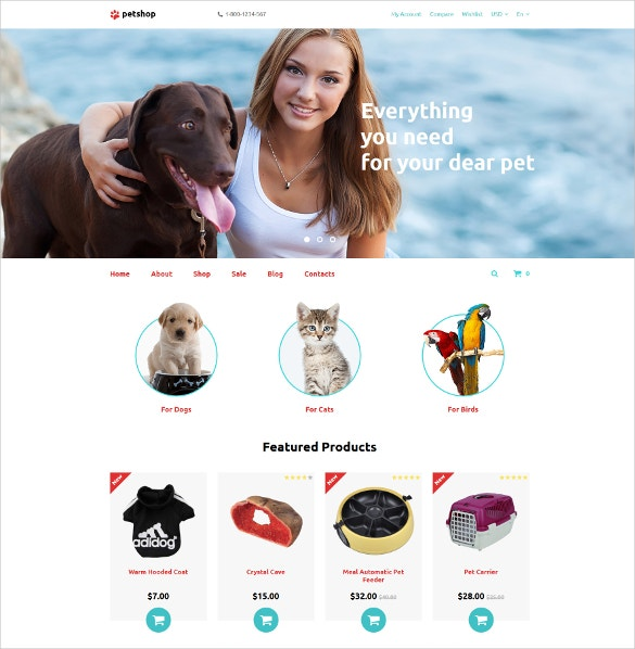 animal petshop opencart template 62