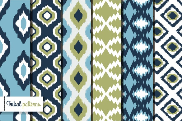 retro ikat tribal seamless patterns free download