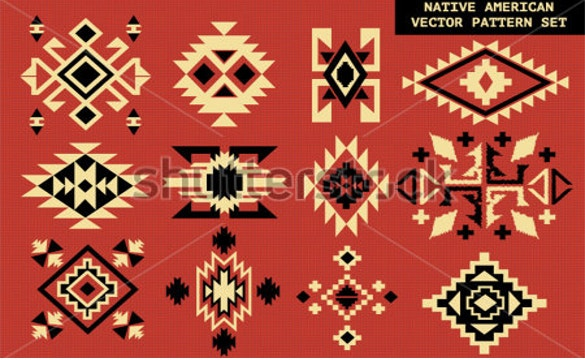 american vector pattern on red board free download