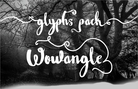 Wowangle Brush Script Font TTF Logo Font Download