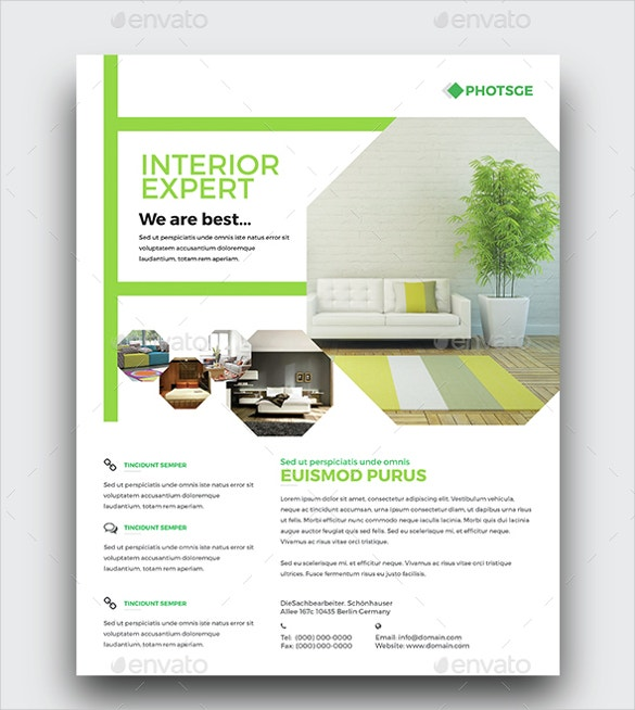 best interior design flyer for home decorate download