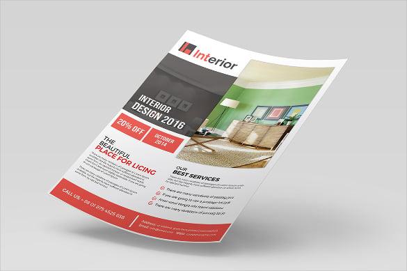 customizable interior design flyer template download