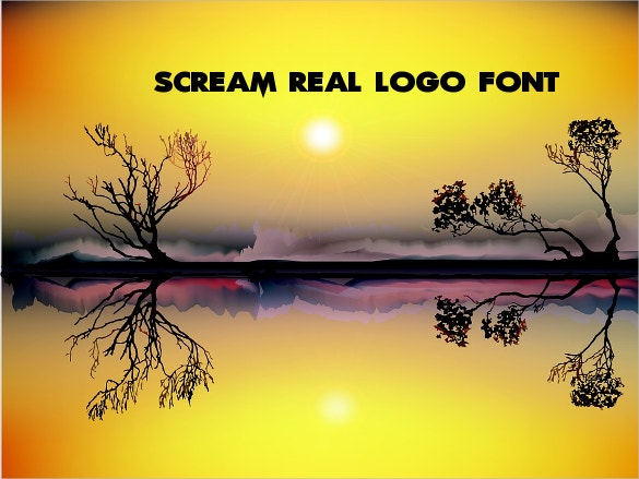 scream real logo font ttf download