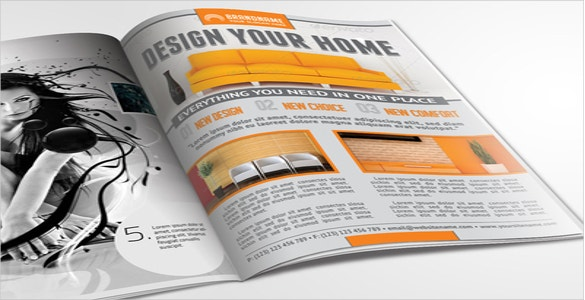 perfect interior design flyer for home