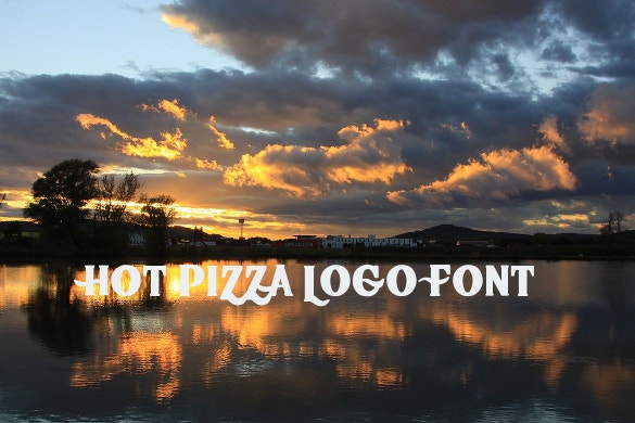hot pizza logo font ttf download