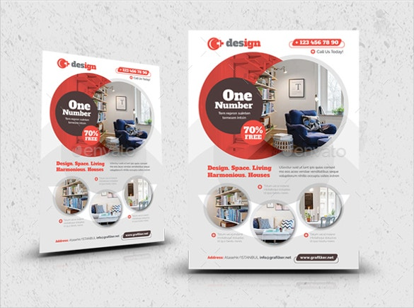 superb interior design flyer template for new homes