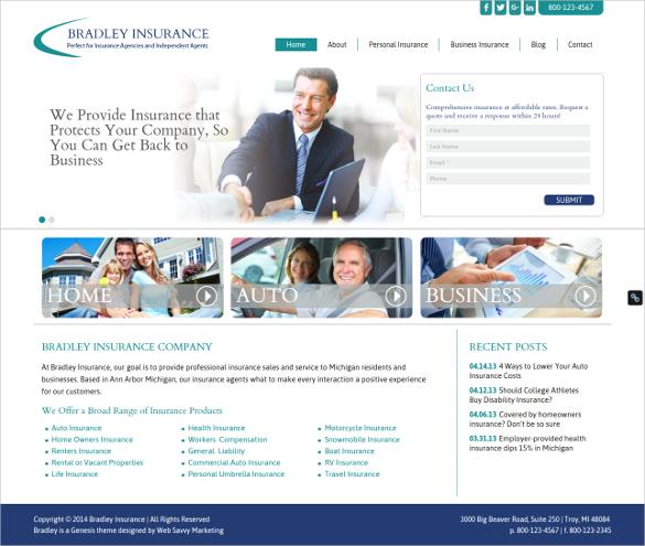 28+ Insurance Website Themes & Templates | Free & Premium ...