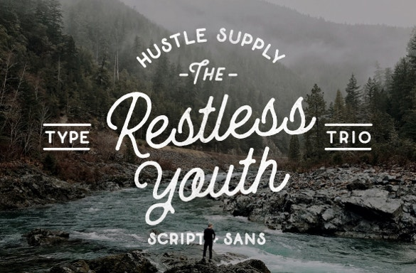 the restless youth logo font otf download