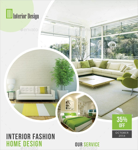 Beautiful Interior Design Flyer For New Home Download