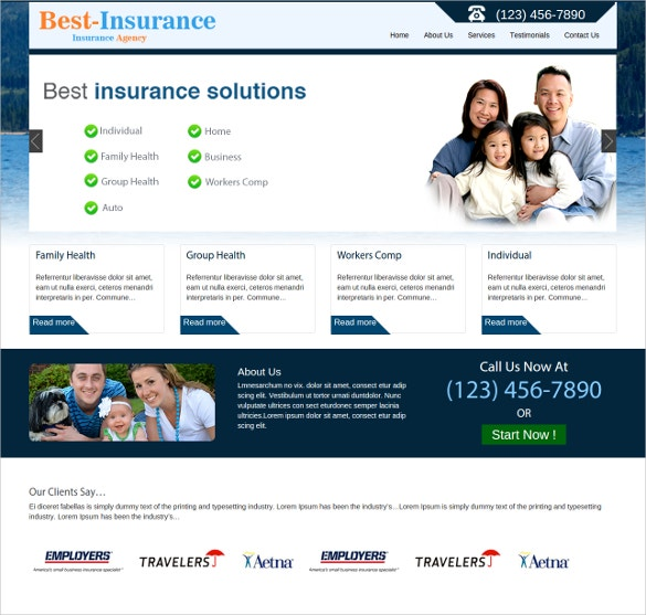 bootstrap templates free insurance  26  Insurance Website Themes