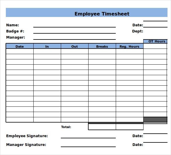 Employee Timesheet. Employee Timesheet Log Template Time Log