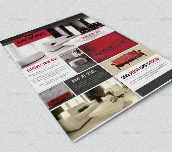 interior design flyer template for furniture download