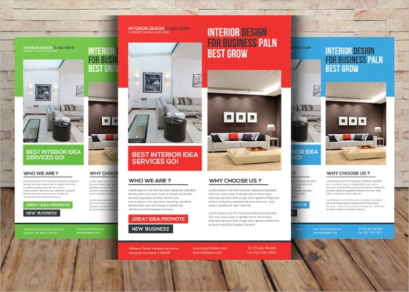Interior Design Flyer Template For Business Plan