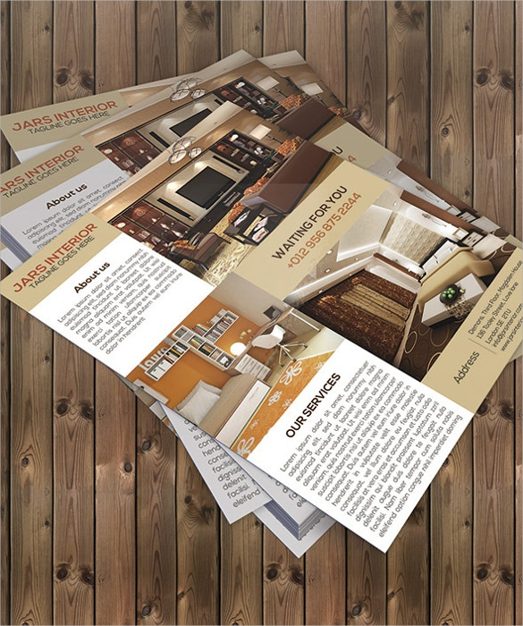 graphic designed interior flyer design template download