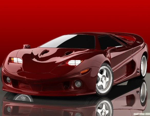 red car wallpaper for download