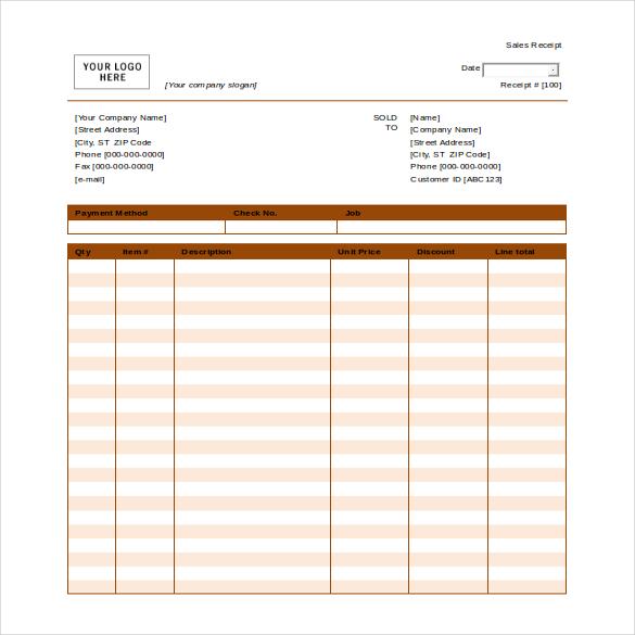 blank hotel receipt template   trattorialeondoro