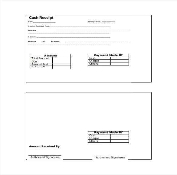 Receipt Template Word 2010